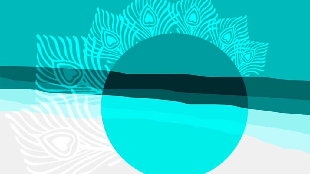 abstract illustration of sun and beach